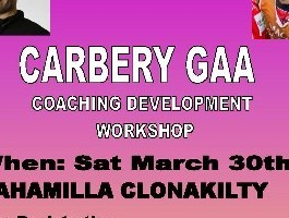 Carbery GAA Coaching Workshop