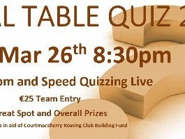 Rowing Club Table Quiz