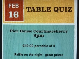 Courtmacsherry Rowing Club Fundraiser