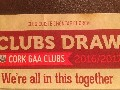 Cork GAA Club Draw 2016/2017