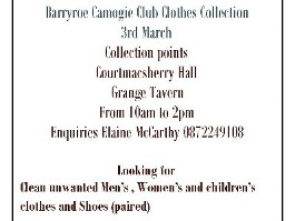 Annual Clothes Collection Fundraiser